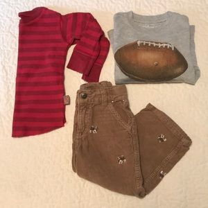 2T Boy's Bundle of Long Sleeves and Corduroys